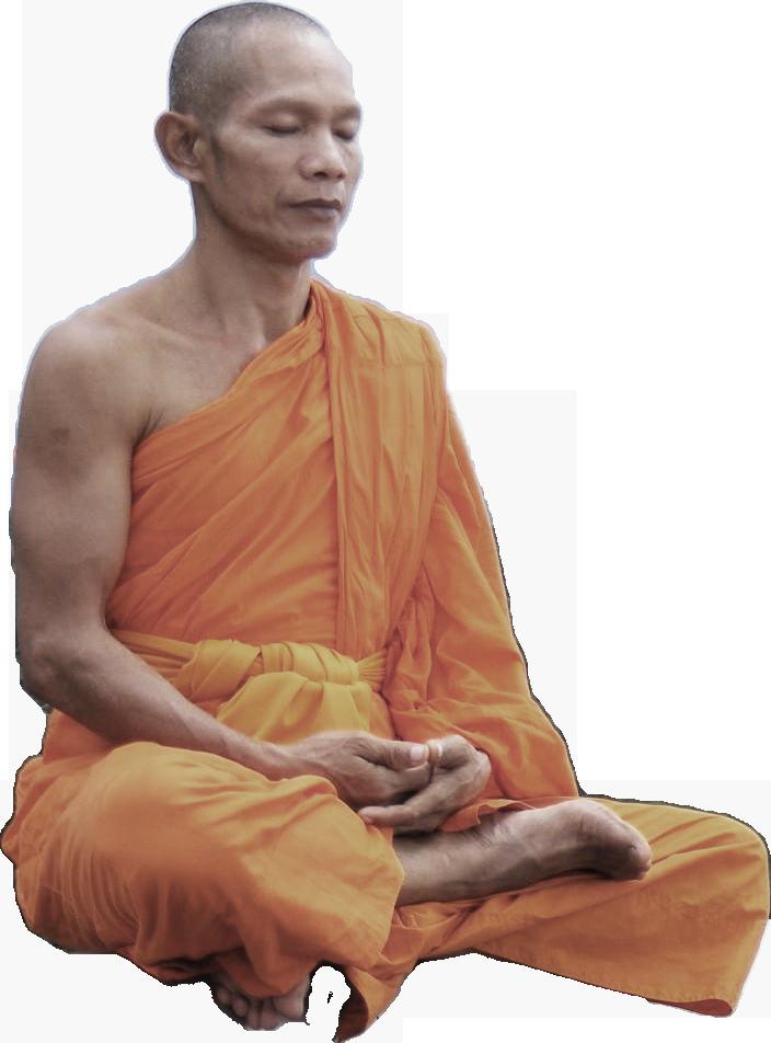 Medytujący mnich